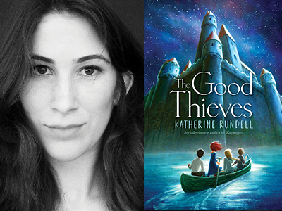 katherine rundell author photo and book cover