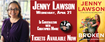 Jenny Lawson in conversation with Christopher Moore event banner