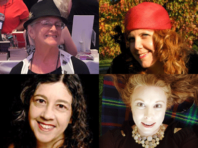 profile photos for Alice Gaines, Tess Rider, Lea Kirk, Sue Brown-Moore