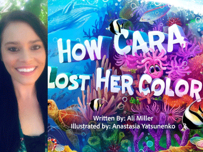 Ali Miller author photo and How Cara Lost Her Color cover image