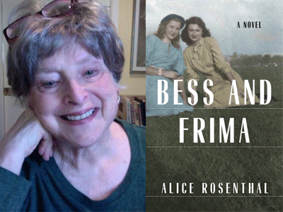 Alice Rosenthal author photo and Bess and Frima cover image
