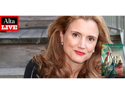 Alta Live: Carol Edgarian author photo and Vera cover image