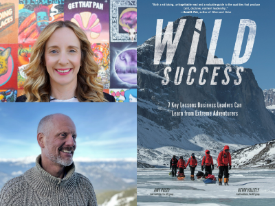 Amy Posey author photo and Wild Success cover image