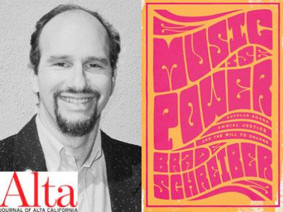 Brad Schreiber author photo and Music is Power cover image