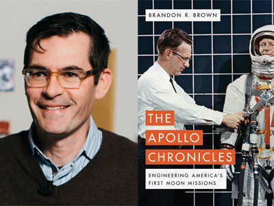 Brandon R. Brown author photo and The Apollo Chronicles cover image