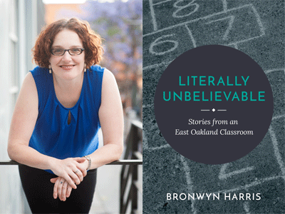Bronwyn Harris author photo and Literally Unbelievable cover image