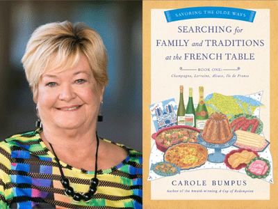 Carole Bumpus author photo and Searching for Family cover image