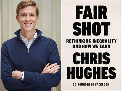 Chris Hughes author photo and Fair Shot cover image