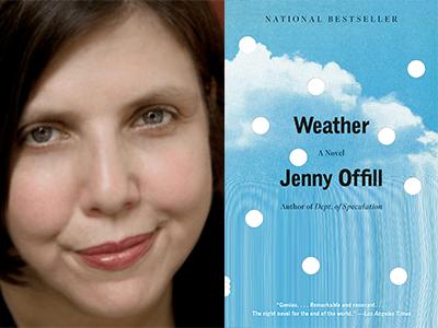 Jenny Offill author photo and Weather cover image