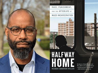 Reuben Jonathan Miller author photo and Halfway Home cover image