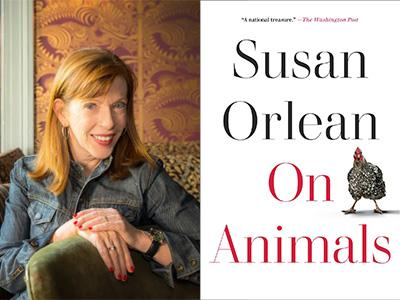 Susan Orlean author photo and On Animals cover image