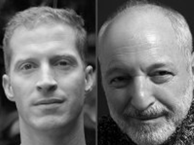 Andrew Sean Greer and Andre Aciman author photo