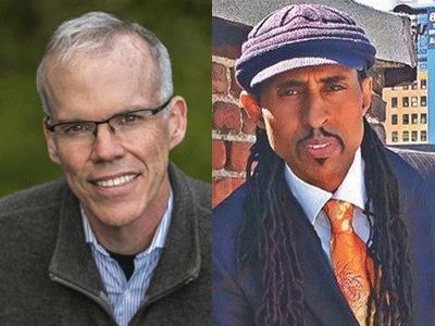 Bill McKibben and Mustafa Santiago Ali profile pics