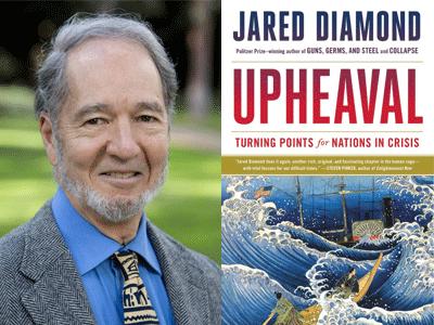 Jared Diamond author photo and Upheaval cover image