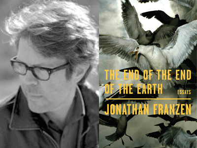 Jonathan Franzen author photo and The End of the End of the Earth cover image