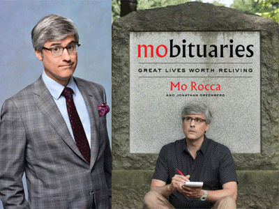 Mo Rocca author photo and Mobituaries cover image