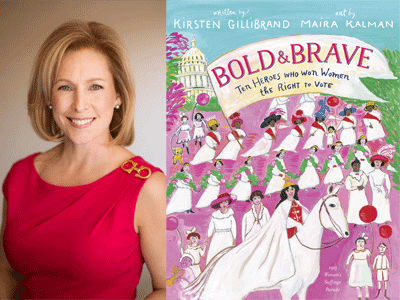Senator Kirsten Gillibrand author photo and Bold & Brave cover image