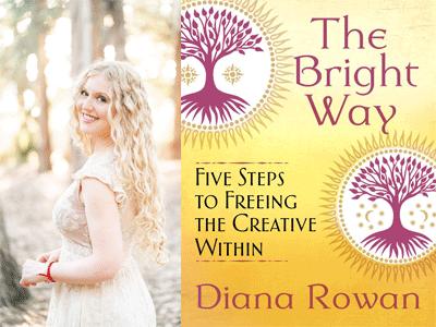 Diana Rowan author photo and The Bright Way cover image