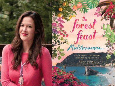 Erin Gleeson author photo and Forest Feast Mediterranean cover image