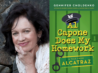 Gennifer Choldenko author photo and Al Capone Does My Homework cover image
