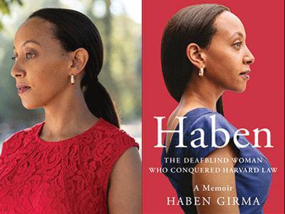 Haben Girma author photo and book cover