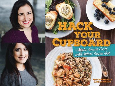 Author and cover image for Hack Your Cupboard