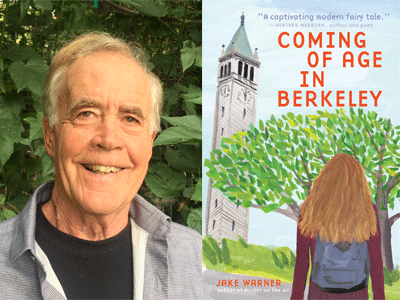 Jake Warner author photo and Coming of Age in Berkeley cover image