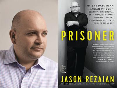 Jason Rezaian author photo and Prisoner cover image