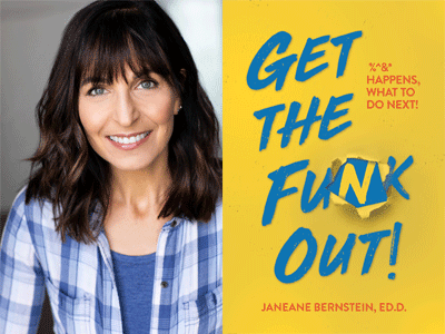 Jeneane Bernstein author photo and Get the Funk Out cover image