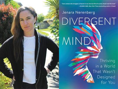 Jenara Nerenberg author photo and Divergent Mind cover image