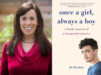 Jo Ivester author photo and Once a Boy, Always a Girl cover image