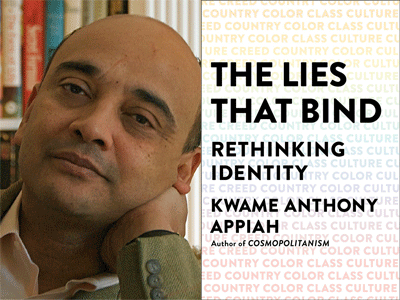 Kwame Anthony Appiah author photo and The Lies That Bind cover image