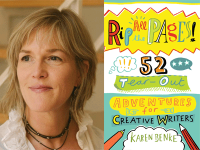 Karen Benke author photo and Rip All the Pages cover image