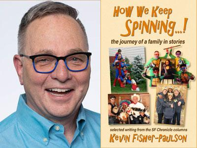 Kevin Fisher-Paulson author photo and How We Keep Spinning cover image