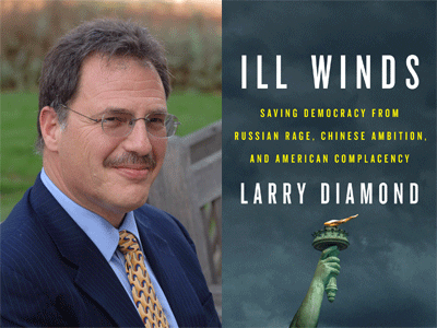 Larry Diamond author photo and Ill Winds cover image