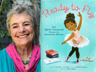 Lea Lyon author photo and Ready to Fly cover image