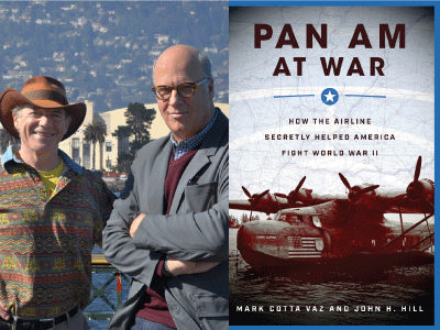 Mark Cotta Vaz and John Hill profile pic and Pan Am at War cover image