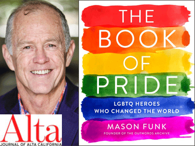 Mason Funk author photo and The Book of Pride cover image