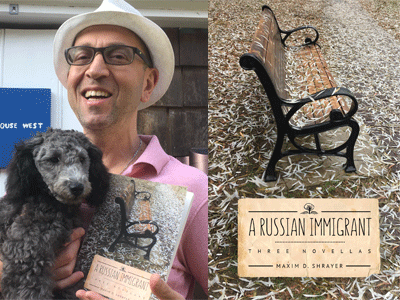 Maxim Shrayer author photo and A Russian Immigrant cover image