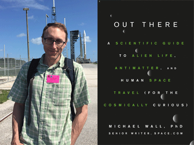 Michael Wall author photo and Out There cover image