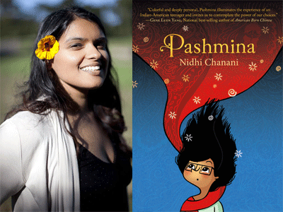 Nidhi Chanani author photo and Pashmina cover image