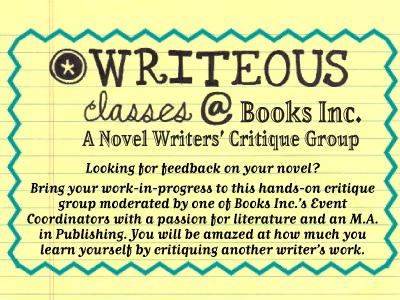 Writeous logo with Novel Writers' Critique Group description