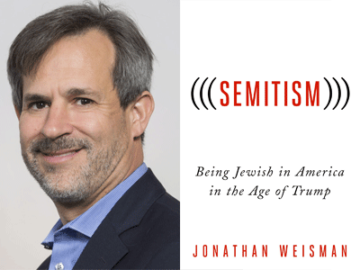 Jonathan Weisman author photo and (((Semitism))) cover image