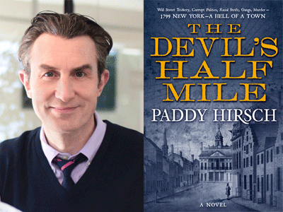 Paddy Hirsch author photo and The Devil's Half Mile cover image