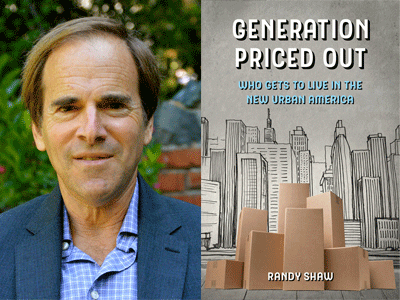 Randy Shaw author photo and Generation Priced Out cover image