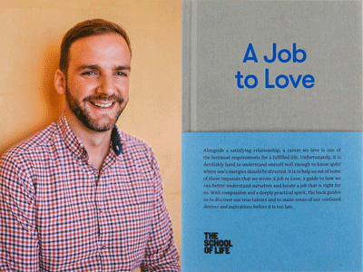 Raul Aparici author photo and A Job to Love cover image