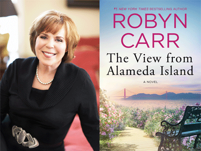 Robyn Carr author photo and The View from Alameda Island cover image