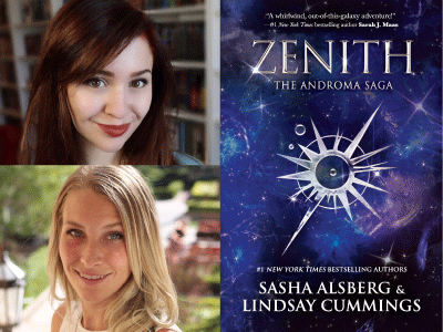 Sasha Alsberg & Lindsay Cummings author photos & Zenith cover image