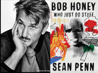 Sean Penn author photo and Bob Honey Who Just Do Stuff cover image