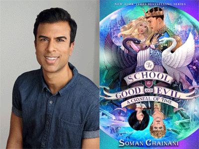 Soman Chainani author photo and SFGE cover image